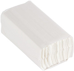 Jantex C Fold White Hand Towels 2Ply 160 Sheets Pack of 15