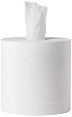 Jantex White Centrefeed Rolls 1ply (Pack of 6)