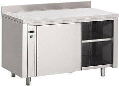 Gastro M Gastro-M Stainless Steel Hot Cupboard With Upstand 850 x 1400 x 700mm