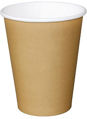 Fiesta Disposable Coffee Cups Single Wall Kraft 340ml / 12oz (Pack of 50)