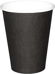 Fiesta Disposable Coffee Cups Single Wall Black 225ml / 8oz (Pack of 50)