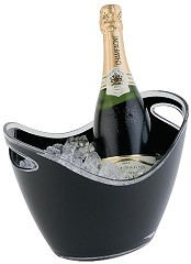 Gastronoble Black Acrylic Wine And Champagne Bucket